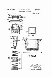 Patent Us3428295 - Push-actuated Drain Valve
