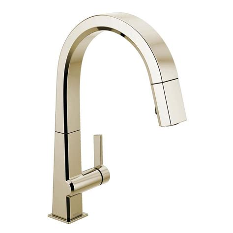 Kitchen Faucets Polished Nickel by Delta Pivotal Single Handle Pull Sprayer Kitchen