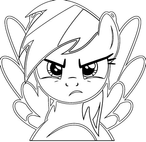 rainbow dash coloring page rainbow dash coloring pages wecoloringpage