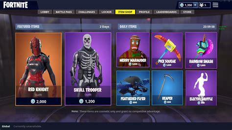 item shop today fortnite battle royale