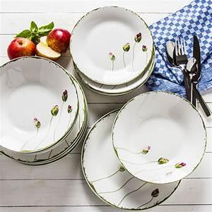 Geschirr Set Weiß Rund : tafelservice 6 personen 18 tlg porzellan geschirr set kombiservice wei blumen ebay ~ Yasmunasinghe.com Haus und Dekorationen