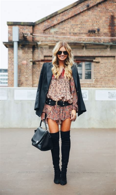 cool boho winter fashion outfits