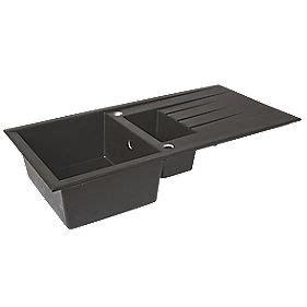 resin sinks kitchens plastic resin kitchen sink drainer black 1 5 bowl 1893