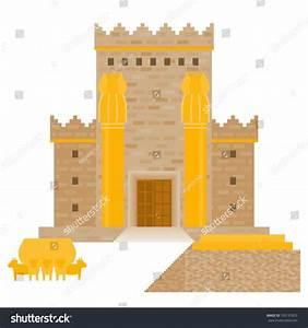 King Solomons Temple Beit Hamikdash Hebrew Stock Vector ...