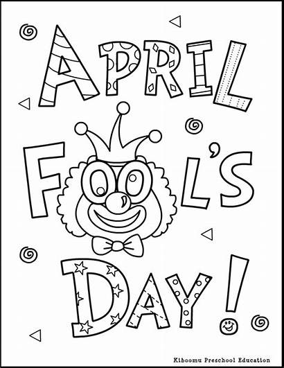Fools April Coloring Pages Printable Activities Preschool