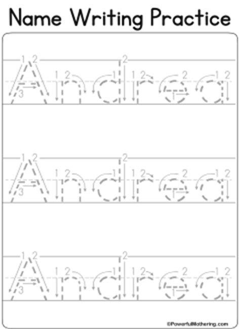 custom name tracing worksheets centers preschool