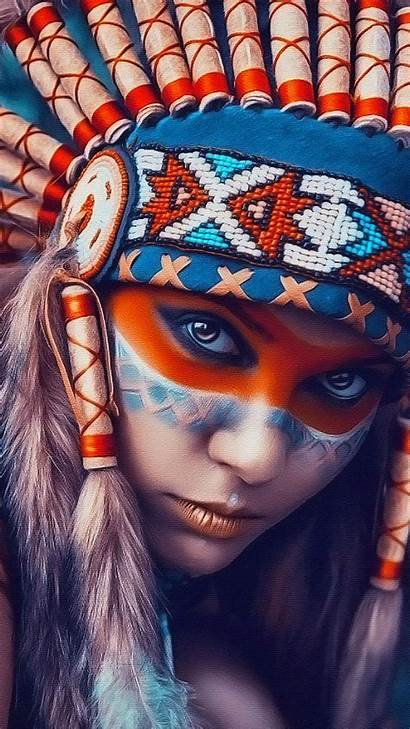 Wallpapers Iphone Tribal Native American Beauty Phone
