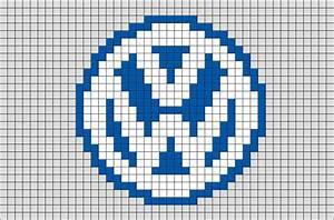 Pixel Art Voiture Facile : volkswagen logo pixel art brik ~ Maxctalentgroup.com Avis de Voitures