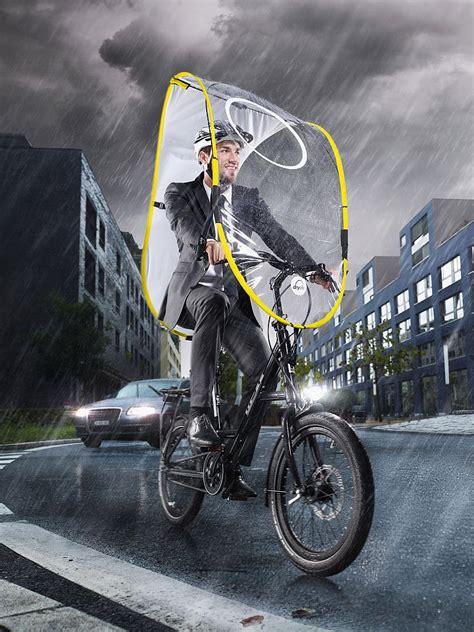 dryve fahrrad regen und wetterschutz gelb