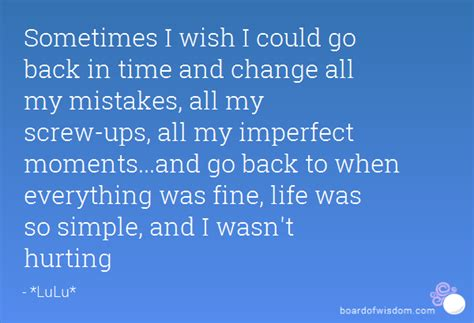 Go Back In Time Quotes Quotesgram