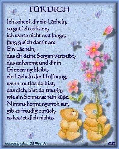 Für Dich by F 252 R Dich Spr 252 Che Bilder Gruss Bilder Gb Bilder