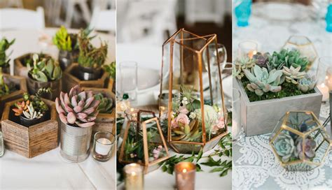 20 succulent wedding centerpiece ideas roses rings