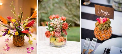 centre de table tropical ananas mariage tropical idee