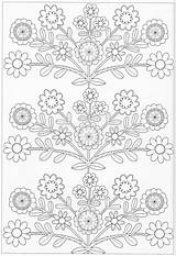 Coloring Pages Scandinavian Flower Pattern Pg Print Embroidery Patterns Designs Hand Sheets Applique Only sketch template