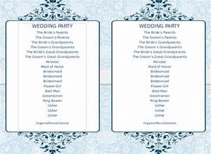 free wedding program templates word beneficialholdingsinfo With free wedding brochure templates download