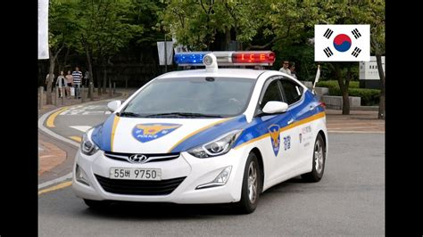 Seoul Police Car With [special Led Lightbar] Patrolling Us