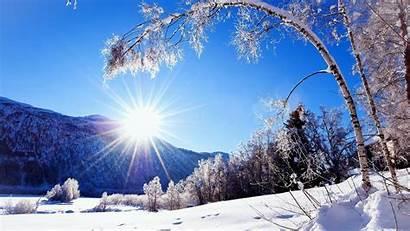 Winter Landscape Sunlit Wallpapers Pixelstalk Snowy