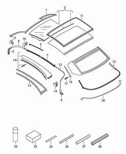 2011 Volkswagen Eos Brazil Market  Body Cabrio Roof Seal
