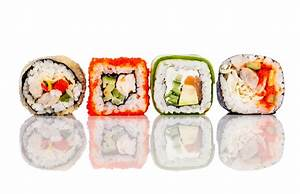 Sushi Roll on a white background | Sushi On Second ...
