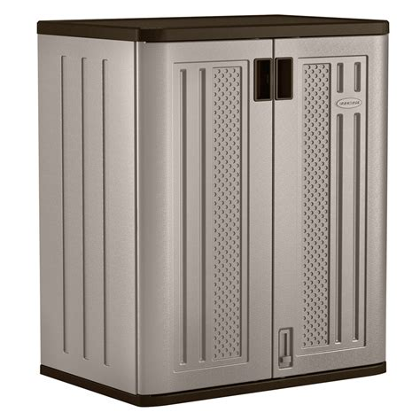 shop suncast 30 in w x 36 in h x 20 25 in d plastic freestanding garage cabinet at lowes