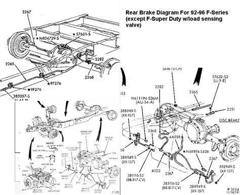 rear brake  diagram ford truck enthusiasts
