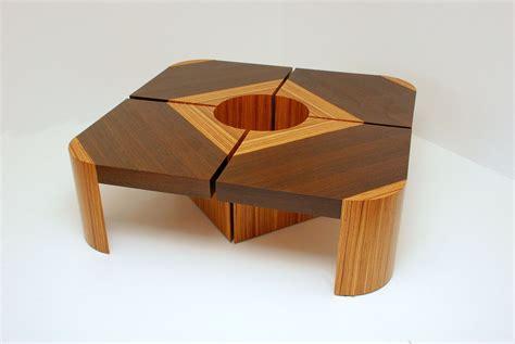 handmade bloom table set wengezebra wood  furniture