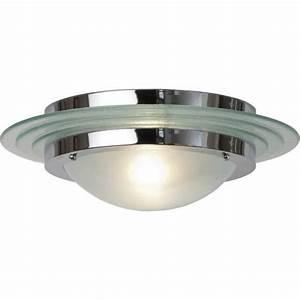 Large art deco flush fitting circular ceiling light for