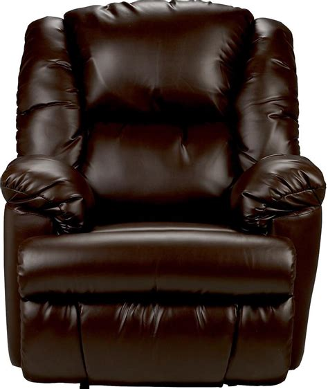 bmaxx bonded leather power reclining chair brown  brick