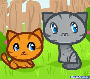 How to Draw Cats for Kids, Step by Step, Animals For Kids ...