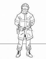 Firefighter Coloring Pages Printable sketch template
