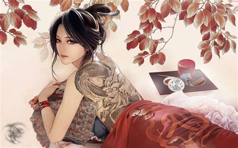 Anime Geisha Wallpaper - wallpaper illustration anime asian