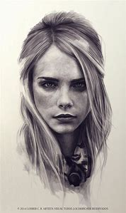 Realistic Pencil Drawing Woman Face