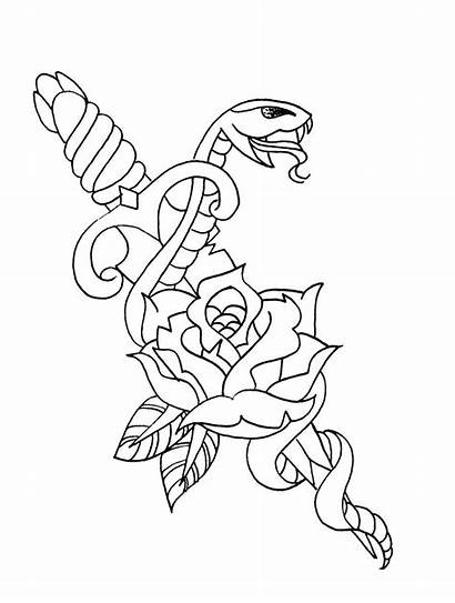 Tattoo Outline Traditional American Tattoos Poison Pick
