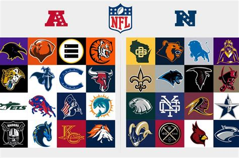 Redesigned Logos for Every NFL Team - Daily Snark
