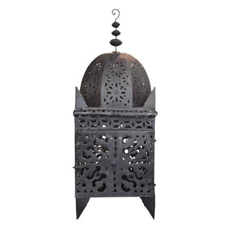 moroccan punched metal l moroccan pierced tin koutoubia style lantern at 1stdibs