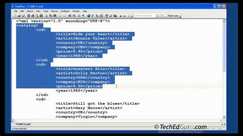 How To Create Simple Xml Document Youtube