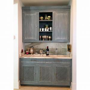 Blue Painted Wet Bar - J Tribble