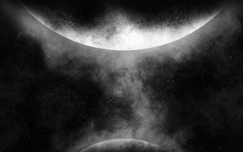 orbit ios art illust space dark bw wallpaper