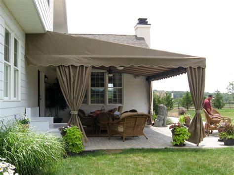 stationary canopy  pleated  curtains kreiders canvas service