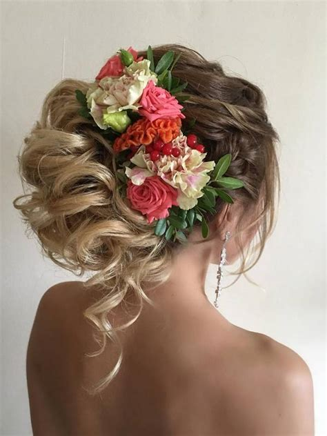 chic wedding hair updos  elegant brides deer pearl