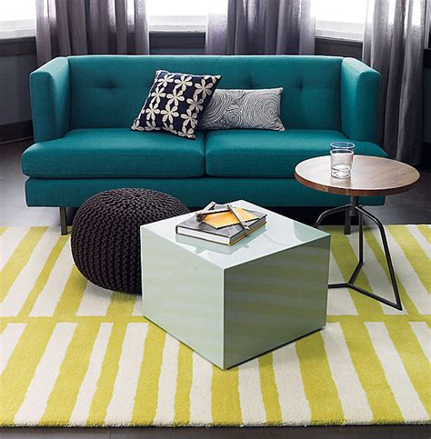 Peacock Blue Loveseat by Shades Of Blue For A Powerful Interior