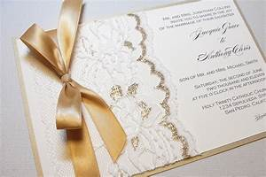 gilded wedding invitations etsy weddings stationery lace With wedding invitation frame etsy