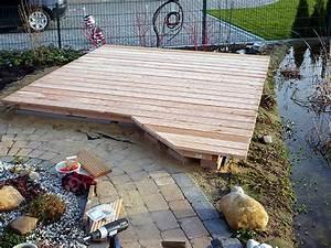 Poolabdeckung Aus Holz Selber Bauen : holzdeck oder holzterrasse am gartenteich bauen heimwerker ~ Watch28wear.com Haus und Dekorationen