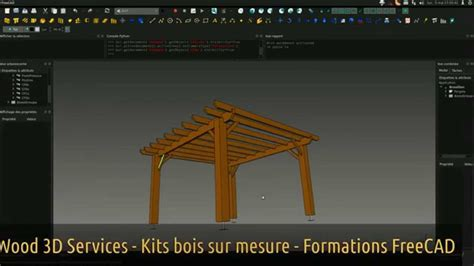 kit pergola bois freecad wood  services youtube