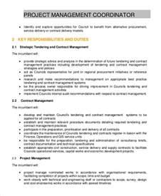 Coordinator Description by Sle Project Coordinator Description 8 Exles In Pdf