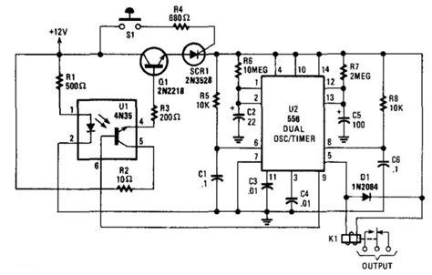 Burglar Alarm With Timed Shutoff Circuit Diagram