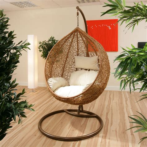 wicker swing chair  stand