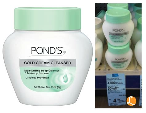 ponds cold cream cleanser    walgreens pond
