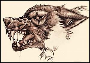 Snarling Wolf by bluesharingan07 on DeviantArt