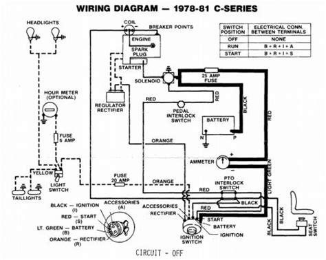 Wheel Wiring Diagram by Tractor 1979 C Series Kohler Powered Wiring Detailed Pdf